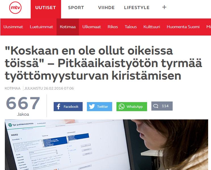 MTV3 Uutiset 26.2.2016
