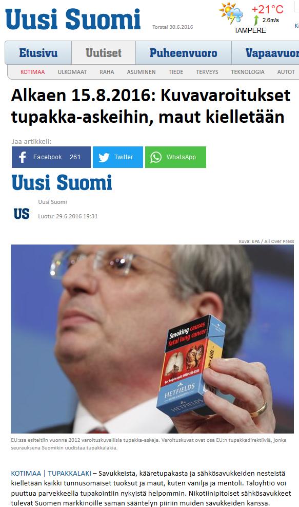Uusi Suomi 29.6.2016